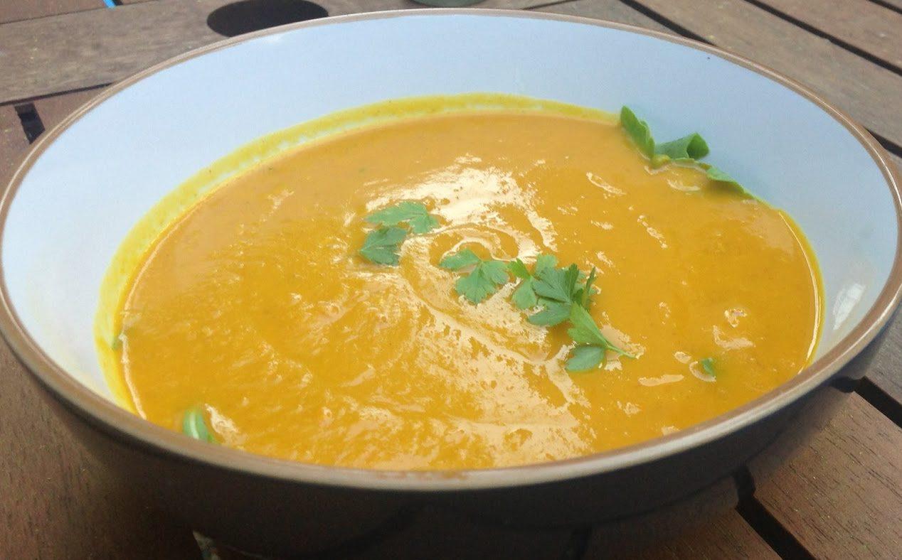 Hokkaido Squash Soup and Roast 'Pumpkin' Seeds