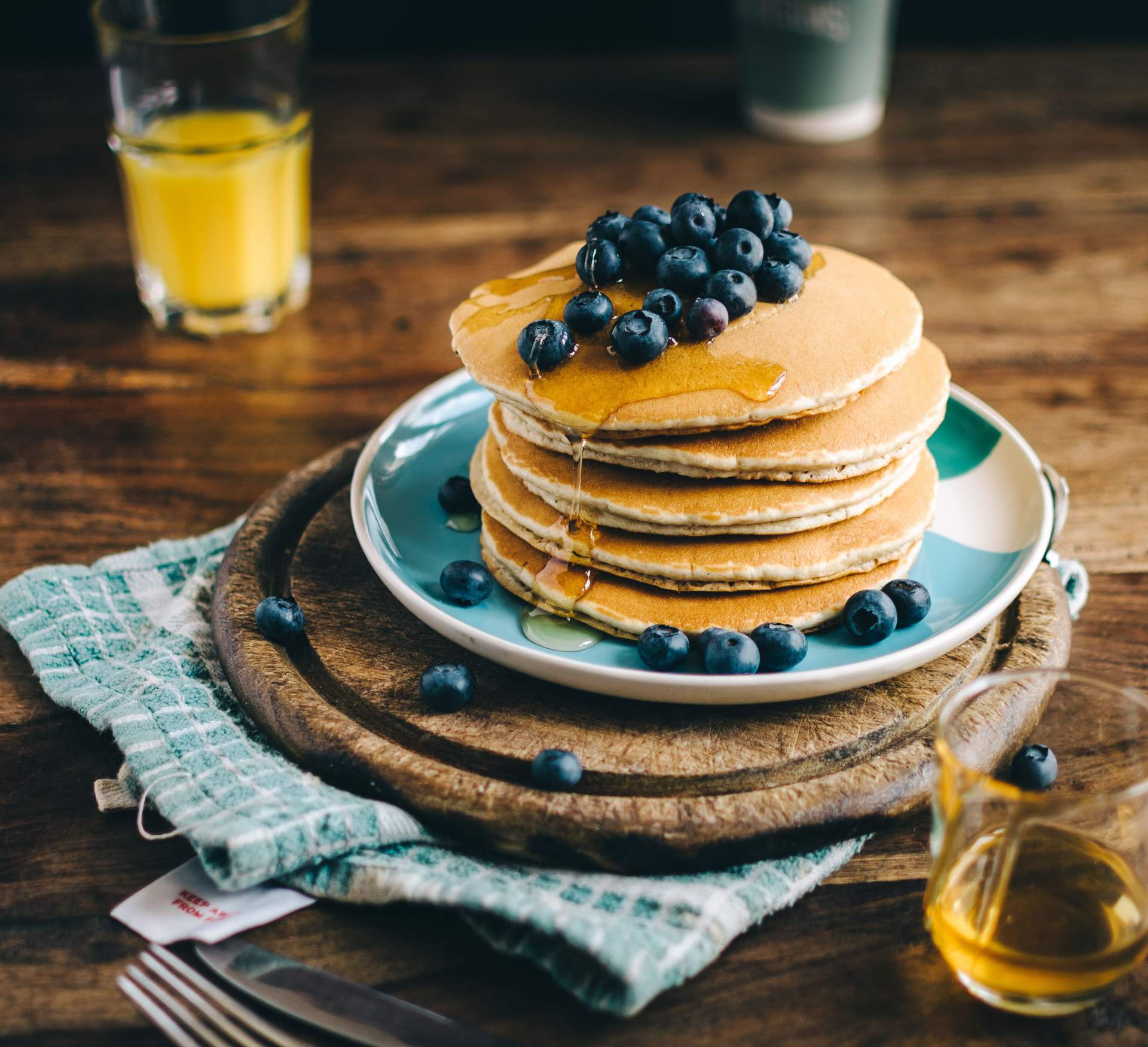 Blueberry and Banana Buckwheat Pancakes